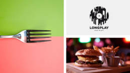 Longplay Logodesign and Keyvisual Burger