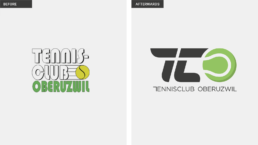 Logo Redesign before and after